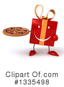 Red Gift Character Clipart #1335498