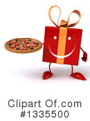 Red Gift Character Clipart #1335500