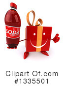 Red Gift Character Clipart #1335501