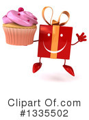 Red Gift Character Clipart #1335502