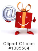 Red Gift Character Clipart #1335504