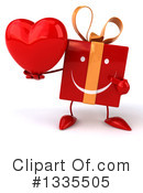 Red Gift Character Clipart #1335505
