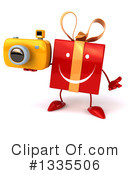 Red Gift Character Clipart #1335506