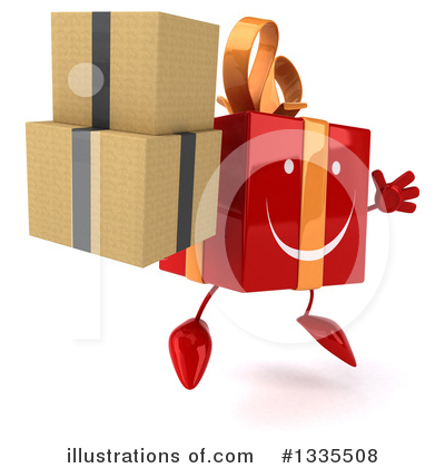 Red Gift Clipart #1335508 by Julos