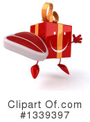 Red Gift Character Clipart #1339397 by Julos