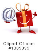 Red Gift Character Clipart #1339399