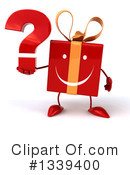 Red Gift Character Clipart #1339400