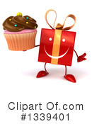 Red Gift Character Clipart #1339401