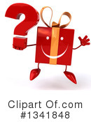 Red Gift Character Clipart #1341848