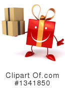 Red Gift Character Clipart #1341850