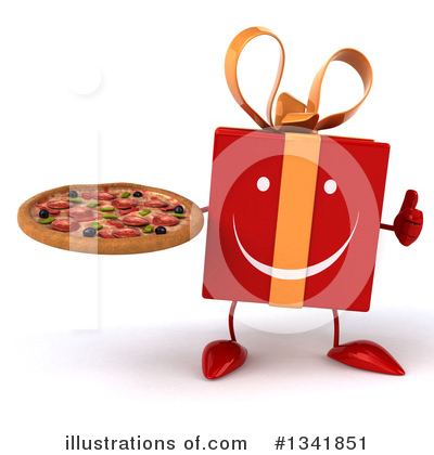 Red Gift Clipart #1341851 by Julos