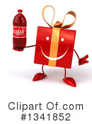 Red Gift Character Clipart #1341852