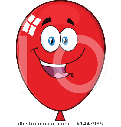 Balloons Clipart #1447965 by Hit Toon