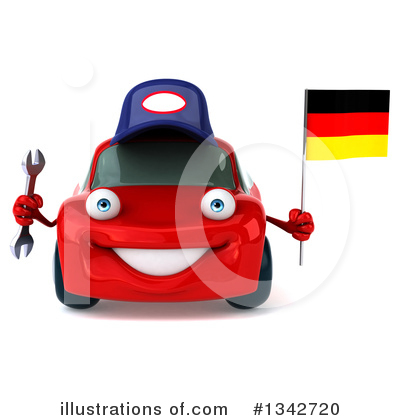 Red Porsche Clipart #1342720 by Julos