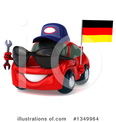 Red Porsche Clipart #1349964 by Julos