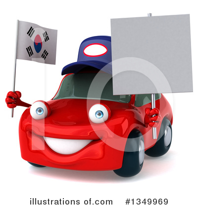 Royalty-Free (RF) Red Porsche Clipart Illustration by Julos - Stock Sample #1349969