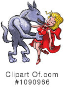 Royalty-Free (RF) red riding hood Clipart Illustration #1090966