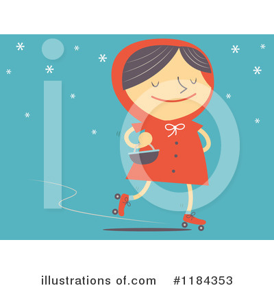Little Red Riding Hood Clipart #1184353 by Qiun
