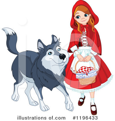 Little Red Riding Hood Clipart #1196433 by Pushkin