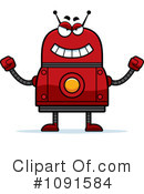 Red Robot Clipart #1091584