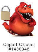 Red Trex Clipart #1480346 by Julos