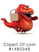 Red Trex Clipart #1480348 by Julos