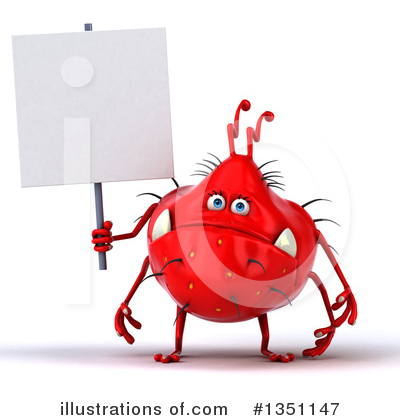 Red Virus Clipart #1351147 by Julos
