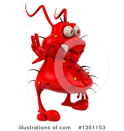 Red Virus Clipart #1351153 by Julos