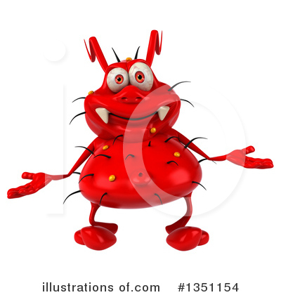 Red Virus Clipart #1351154 by Julos