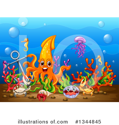 Royalty-Free (RF) Reef Clipart Illustration by Graphics RF - Stock Sample #1344845