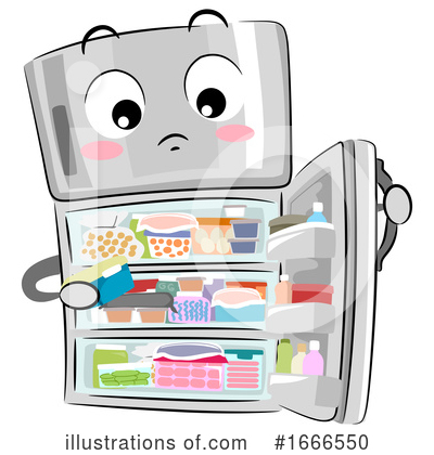 Royalty-Free (RF) Refrigerator Clipart Illustration by BNP Design Studio - Stock Sample #1666550
