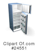 Refrigerator Clipart #24551 by KJ Pargeter
