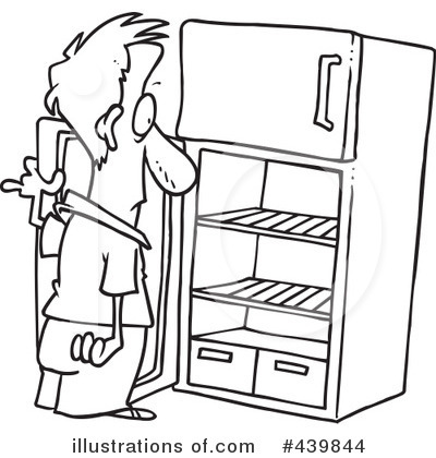 Refrigerator Clipart #439844 - Illustration by toonaday