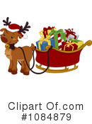 Royalty-Free (RF) Reindeer Clipart Illustration #1084879