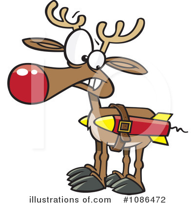 Reindeer Clipart #1086472 by toonaday