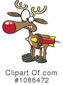 Royalty-Free (RF) Reindeer Clipart Illustration #1086472
