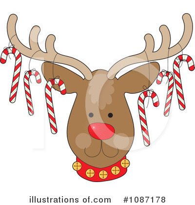 Candy Cane Clipart #1087178 by Maria Bell