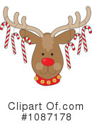 Royalty-Free (RF) Reindeer Clipart Illustration #1087178