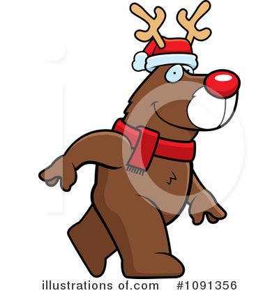 Rudolph Clipart #1091356 by Cory Thoman
