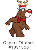 Royalty-Free (RF) Reindeer Clipart Illustration #1091356