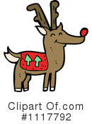 Royalty-Free (RF) Reindeer Clipart Illustration #1117792
