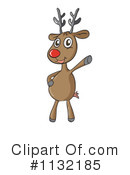 Royalty-Free (RF) Reindeer Clipart Illustration #1132185