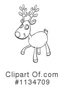 Royalty-Free (RF) Reindeer Clipart Illustration #1134709