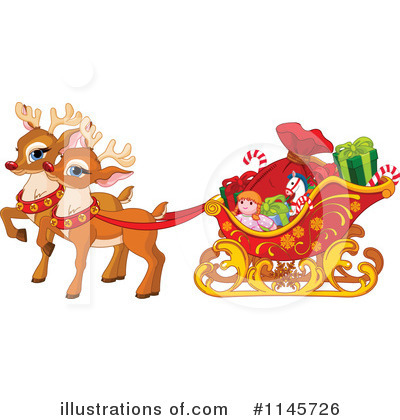 Royalty-Free (RF) Reindeer Clipart Illustration by Pushkin - Stock Sample #1145726