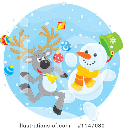 Snowman Clipart #1147030 by Alex Bannykh