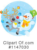 Royalty-Free (RF) Reindeer Clipart Illustration #1147030