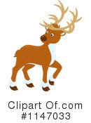 Royalty-Free (RF) Reindeer Clipart Illustration #1147033