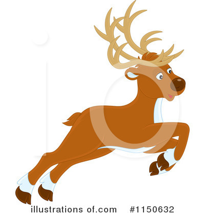 Reindeer Clipart #1150632 by Alex Bannykh