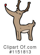 Royalty-Free (RF) Reindeer Clipart Illustration #1151813