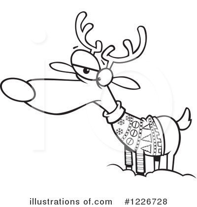 Royalty-Free (RF) Reindeer Clipart Illustration by toonaday - Stock Sample #1226728